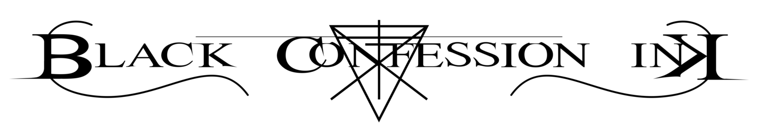 Black Confession Ink Logo White in Black